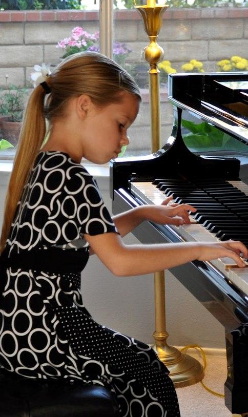 student practising